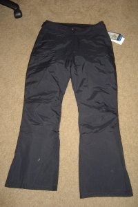 My ski pants from the front