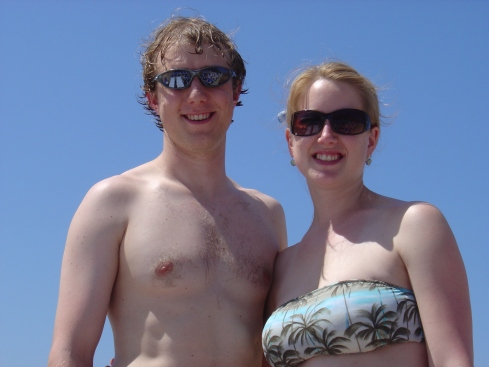 Travis and me on the beach