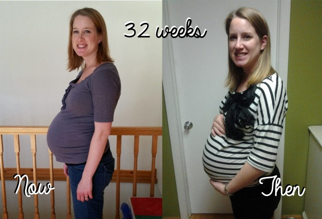 32 weeks then now