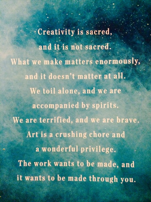 creativity is sacred